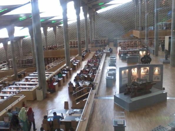 biblioteca ad Alessandria d'Egitto