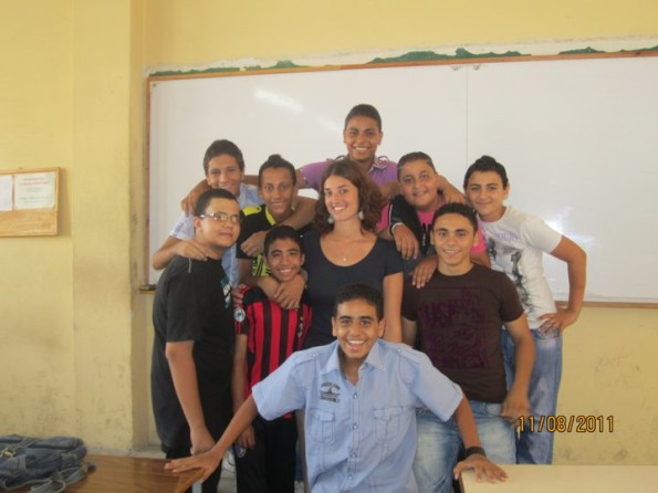 con i miei studenti in classe
